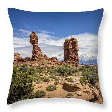 Balanced Rock Throw Pillow