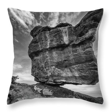 Balanced Rock Monochrome Throw Pillow