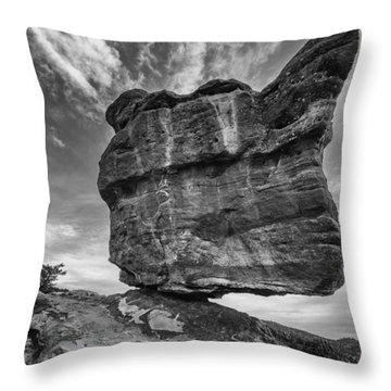 Balanced Rock Monochrome Throw Pillow