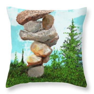 Balanced Rocks #6 Throw Pillow
