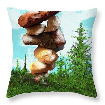 Balanced Rocks #8 Throw Pillow