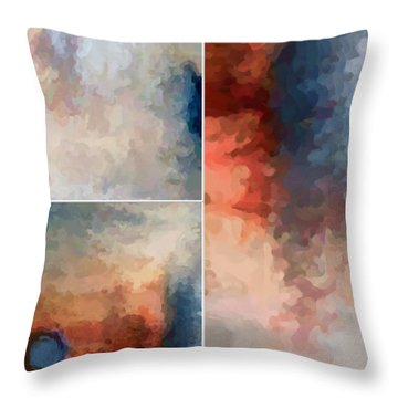 Balance...three Throw Pillow by Tom Druin