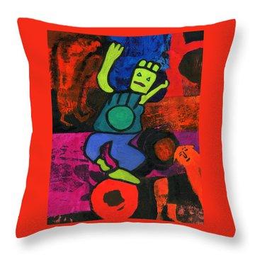 Balancing Act Throw Pillow