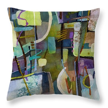 Throw Pillow featuring the painting Balancing Act by Hailey E Herrera