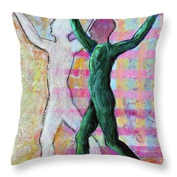 Throw Pillow featuring the painting Balancing Joy by Priti Lathia