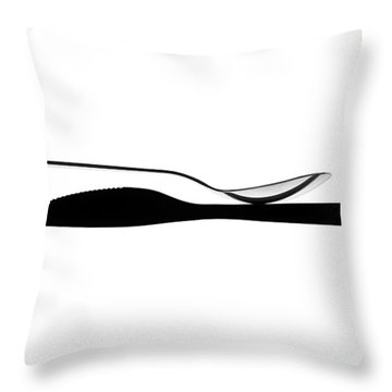 Throw Pillow featuring the photograph Balancing Spoon by Gert Lavsen
