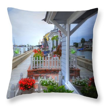 Balboa Island Beach House 2 Throw Pillow