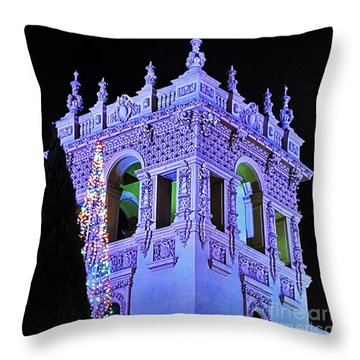 Balboa Park December Nights Celebration Details Throw Pillow by Jasna Gopic