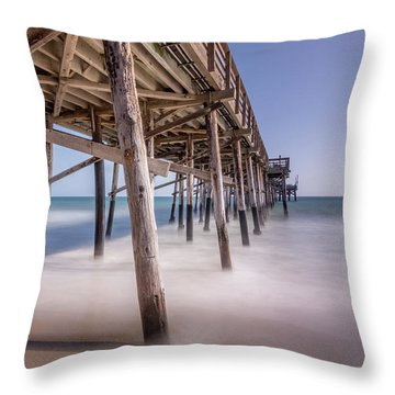 Balboa Pier Throw Pillow by Jeremy Farnsworth