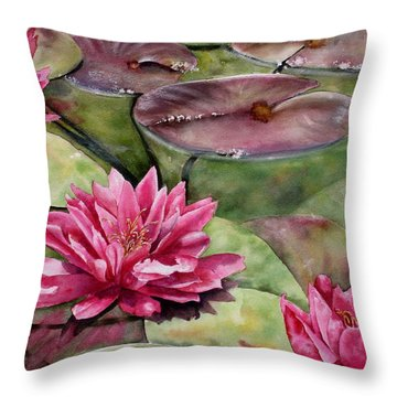 Balboa Water Lilies Throw Pillow