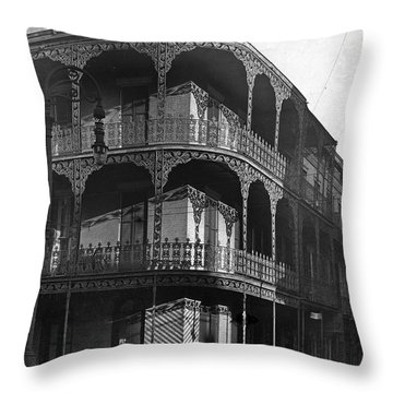 Balcony In The Sun Throw Pillow