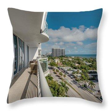 Balcony Life Throw Pillow