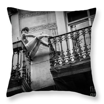 Balcony Scene Throw Pillow