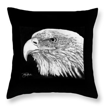 Bald Eagle #4 Throw Pillow by Bill Richards