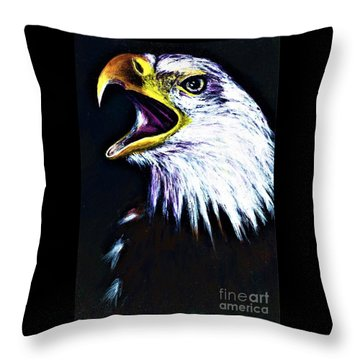 Bald Eagle - Francis -audubon Throw Pillow