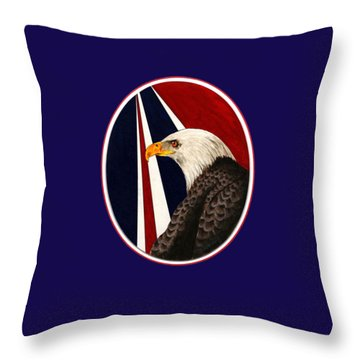 Bald Eagle T-shirt Throw Pillow by Herb Strobino