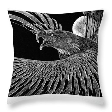 Bald Eagle Throw Pillow by Kean Butterfield