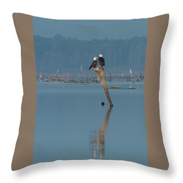 Bald Eagle Pair Throw Pillow