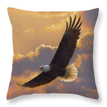Bald Eagle - Soaring Spirit Throw Pillow