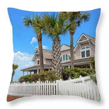 Bald Head Island Perfect Day Throw Pillow