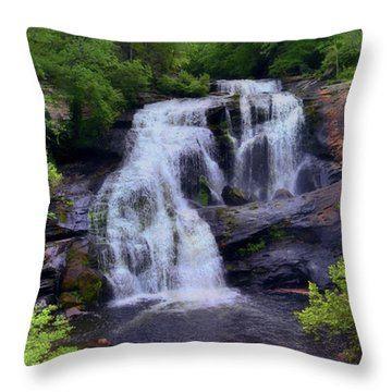 Bald River Falls, Tenn. Throw Pillow