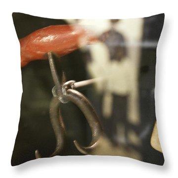 Throw Pillow featuring the photograph Bale Hooks by Miroslava Jurcik