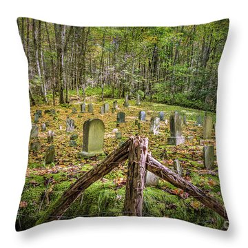 Bales Cemetery Throw Pillow by Patrick Shupert