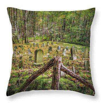 Bales Cemetery Throw Pillow