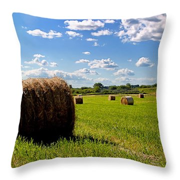 Bales Of Clouds Throw Pillow