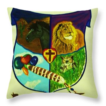 Balestar Crest Throw Pillow by Jamey Balester