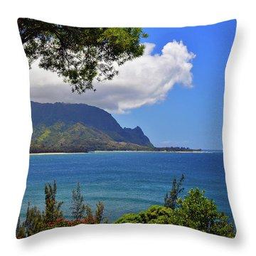 Bali Hai Hawaii Throw Pillow by Marie Hicks