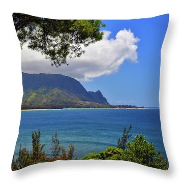 Bali Hai Hawaii Throw Pillow