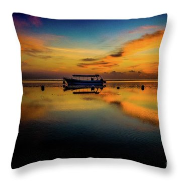 Magical Bali Sunrise Throw Pillow