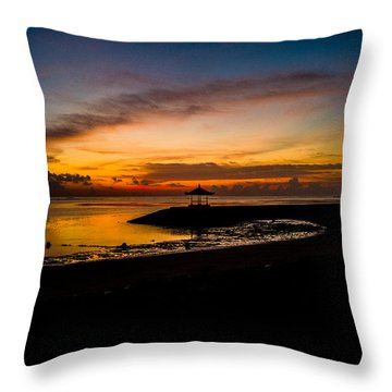 Bali Sunrise I Throw Pillow