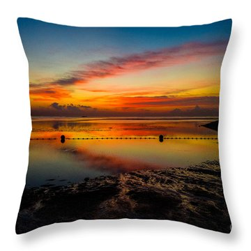 Bali Sunrise II Throw Pillow