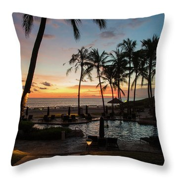 Bali Sunset Throw Pillow