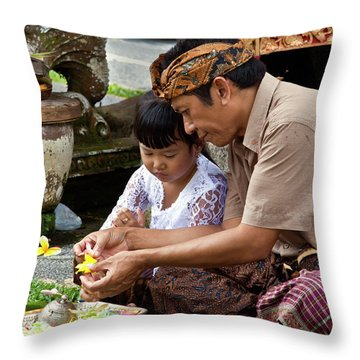 Bali_d796 Throw Pillow