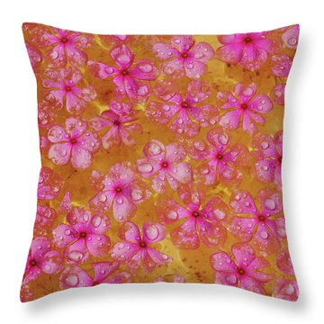 Balinese Flowers Throw Pillow