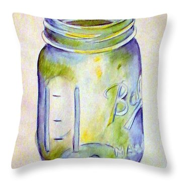 Ball Mason Jar Throw Pillow