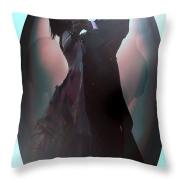 Ball Room Dancer Throw Pillow by Tbone Oliver