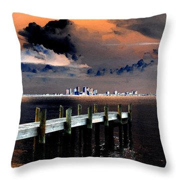 Ballast Point Throw Pillow by David Lee Thompson