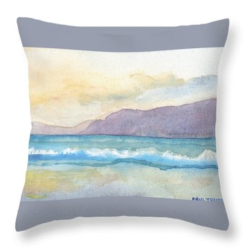 Ballenskelligs Beach Throw Pillow