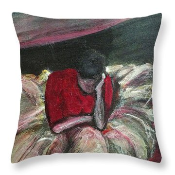 Ballerina After Practice Throw Pillow