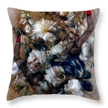 Ballerina Bouquet Throw Pillow by G Berry