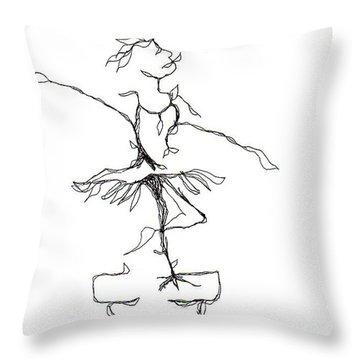 Ballerina- Cracked Pot Throw Pillow