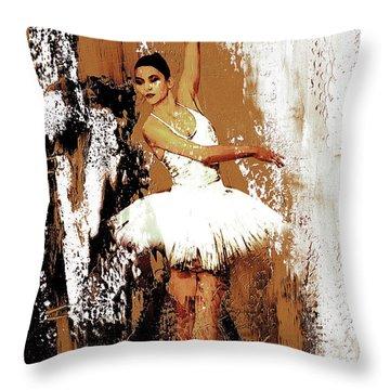 Ballerina Dance 093 Throw Pillow by Gull G
