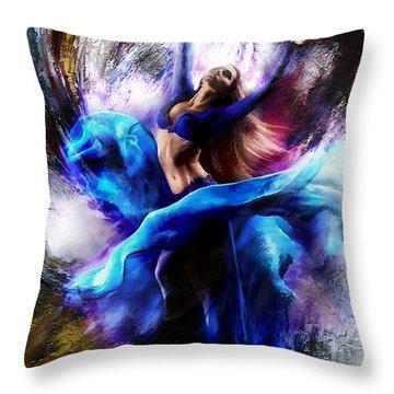 Ballerina Dance009-a Throw Pillow by Gull G