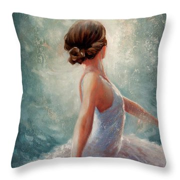 Ballerina Dazzle Throw Pillow by Michael Rock