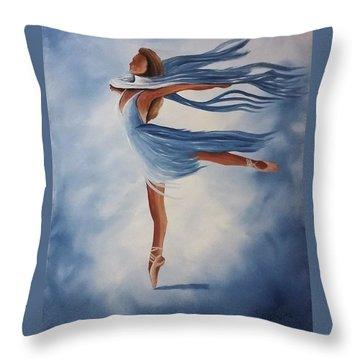 Ballerina Throw Pillow by Edwin Alverio