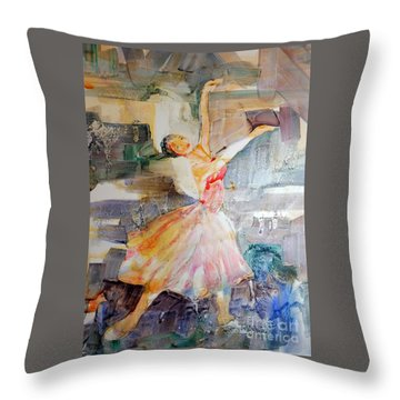 Ballerina In Motion Throw Pillow
